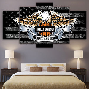 5 Panel Harley Davidson Canvas