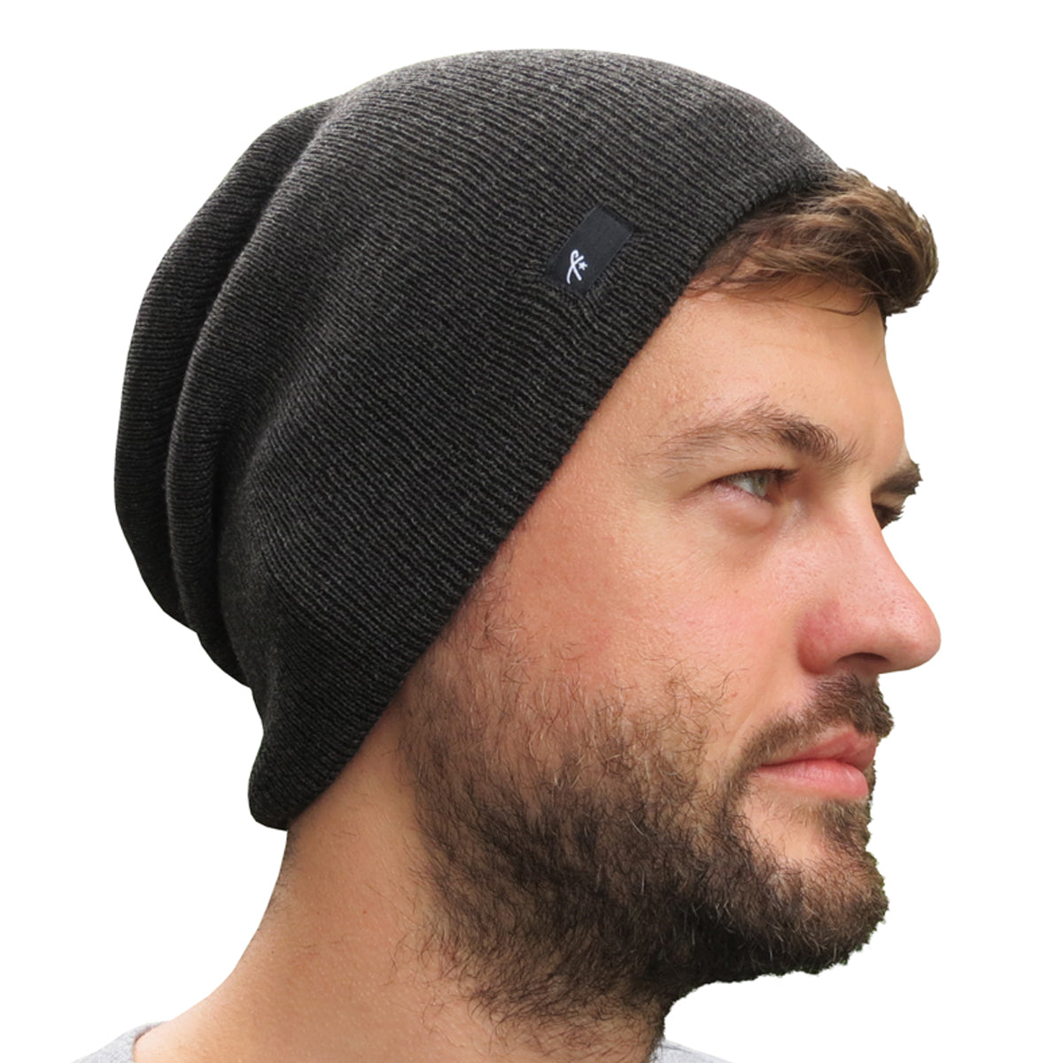 Slouch Beanie - Charcoal