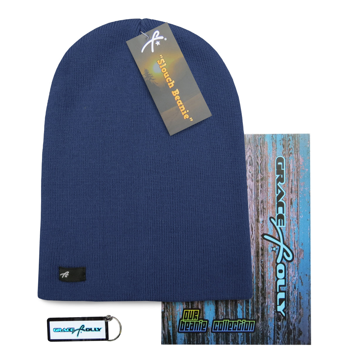 Slouch Beanie - Navy Blue