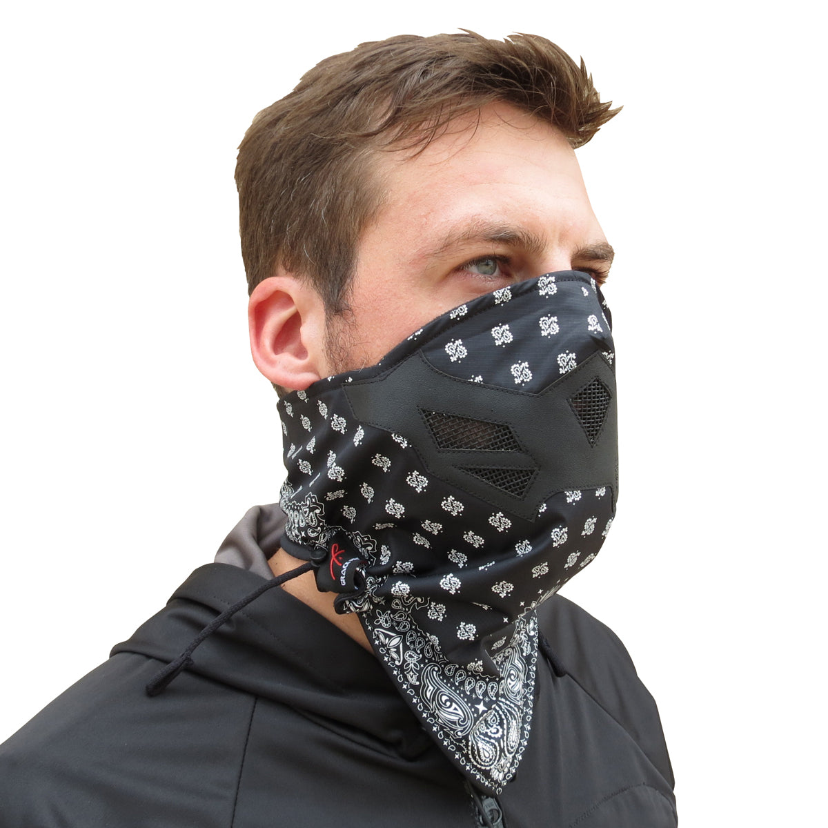 Raider Mask - Black and White Bandana