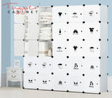 Tupper Cabinet ALL WHITE Attire Label Storage Cabinet - Extra Large