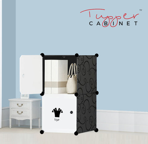 Tupper Cabinet Elegant Black Attire Label Storage Cabinet