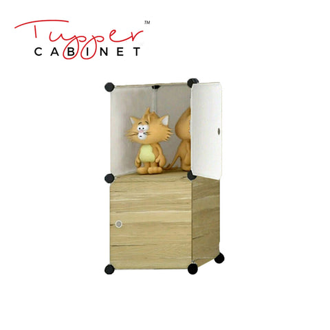 Tupper Cabinet Dark Wood Storage Cabinet-Extra Large