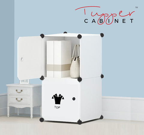 Tupper Cabinet Pure Solid White Attire Label Storage Cabinet