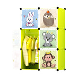 Tupper Cabinet  Jungle Cartoon Lime Opaque Wardrobe Organizer