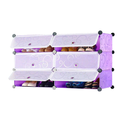 Tupper Cabinet Elegant Purple DIY Shoerack Double Base Straight Up