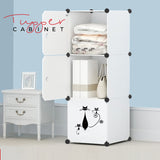 Tupper Cabinet ALL WHITE Lazy Cat Storage Cabinet - Extra Large