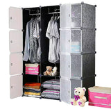 Tupper Cabinet Elegant Black Stripes Wardrobe Organizer