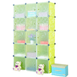 Tupper Cabinet Green Flower Storage Cabinet-Extra Large