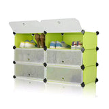 Tupper Cabinet Fruit Green DIY Shoerack Double Base Straight Up