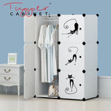 Tupper Cabinet ALL WHITE Lazy Cat Wardrobe - Extra Large