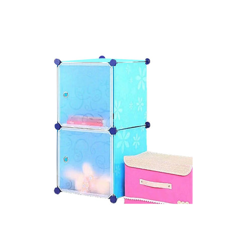 Tupper Cabinet Blue Flower Storage Cabinet-Extra Large