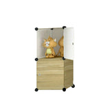 Tupper Cabinet Classic Dark Wood Design Storage Cabinet