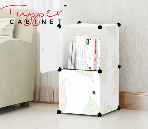 Tupper Cabinet Leaf Design Storage Cabinet-Extra Large