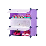 Tupper Cabinet Elegant Purple DIY Shoerack Single Base Straight Up
