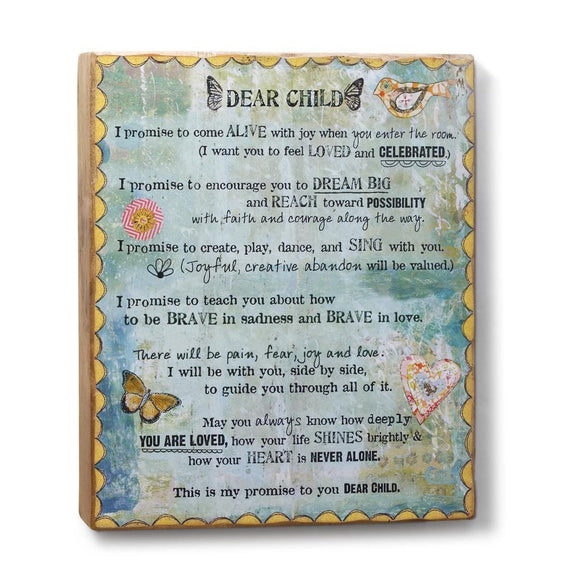 Kelly Rae Roberts Wall Art  - Dear Child Plaque