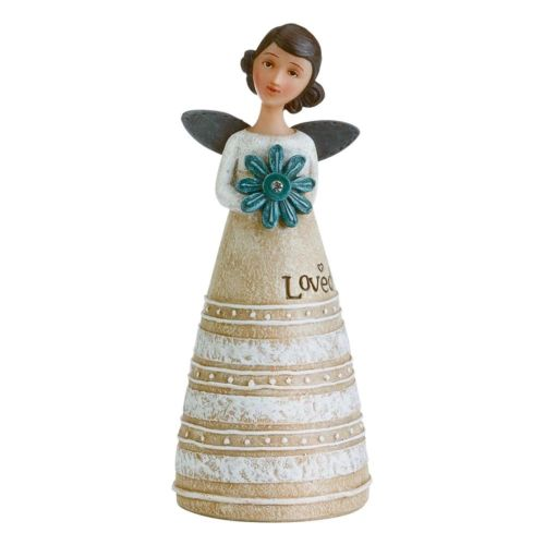 Kelly Rae Roberts - April Birthday Wish Angel Figure