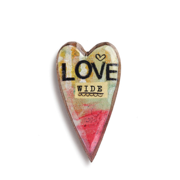 Kelly Rae Roberts Pin - Love Wide