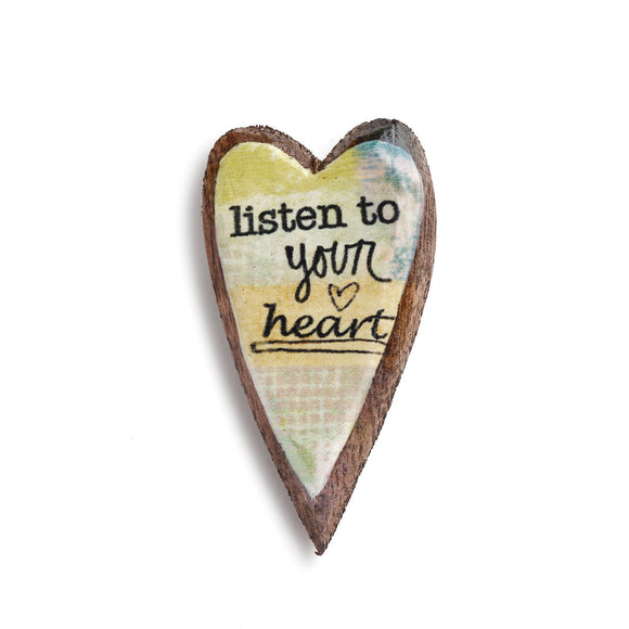 Kelly Rae Roberts Pin - Listen to Your Heart