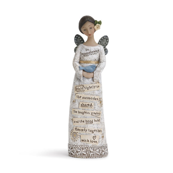 KELLY RAE ROBERTS FIGURINE - REMEMBRANCE ANGEL 17CM