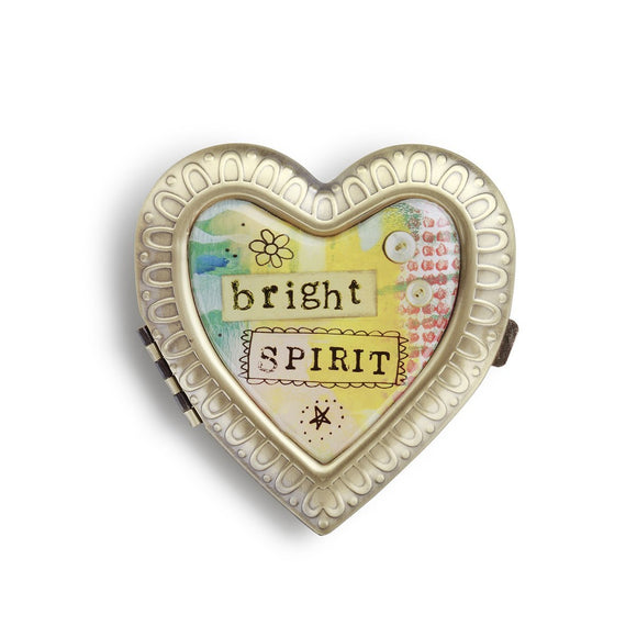 Kelly Rae Roberts Accessories - Bright Spirit Heart Compact Mirror