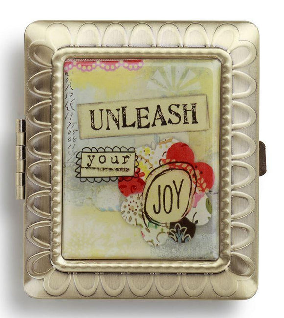 Kelly Rae Roberts Accessories - Unleash Your Joy Rectangle Compact Mirror