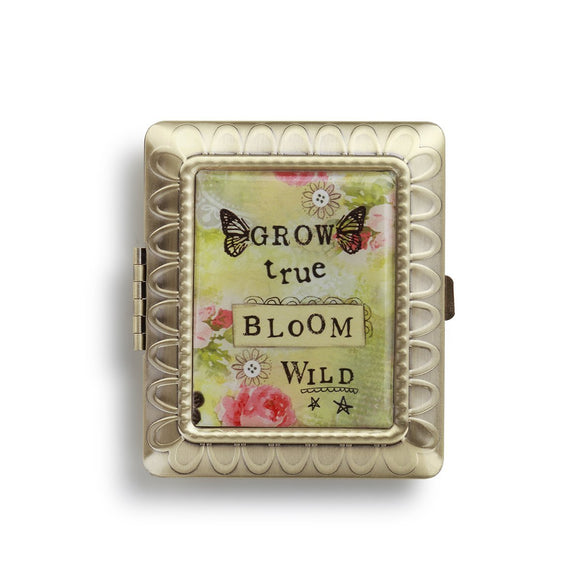 Kelly Rae Roberts Accessories - Bloom Rectangle Compact Mirror