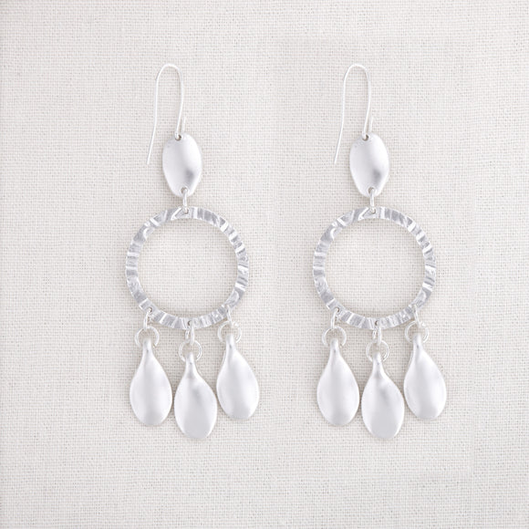 Petal with Circle Earrings