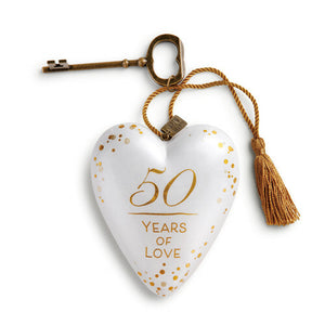 "DEMDACO Art Heart - 10cm/4"" 50 Years of Love"