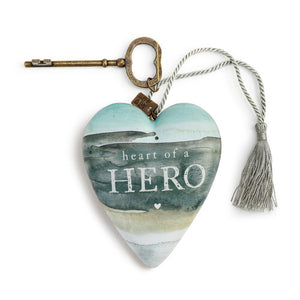 "DEMDACO Art Heart - 10cm/4"" Heart of a Hero"