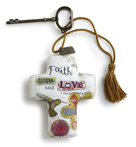 Demdaco- FAITH HOPE LOVE- ARTFUL CROSS