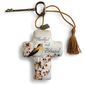 Demdaco- THANKFUL AND BLESSED- ARTFUL CROSS