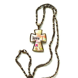 Kelly Rae Roberts Accessories -  Love Cross Inspirational Necklace
