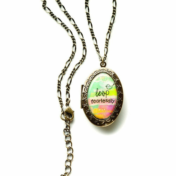 Kelly Rae Roberts Accessories - Leap Fearlessly Picture Locket