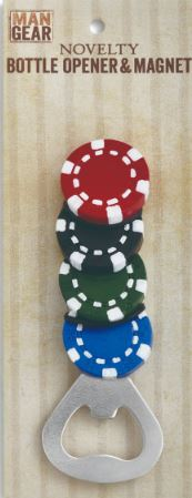Men Gear 5'' Bottle Opener Poker Chips