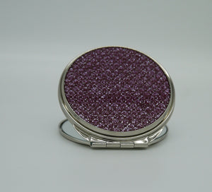 Pink Diamond Compact Mirror Round
