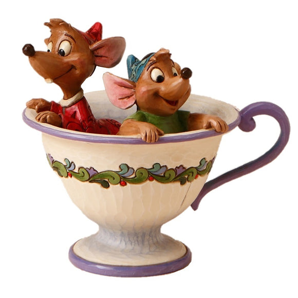 Disney Traditions - Cinderella Jaq and Gus Tea for Two Figurine