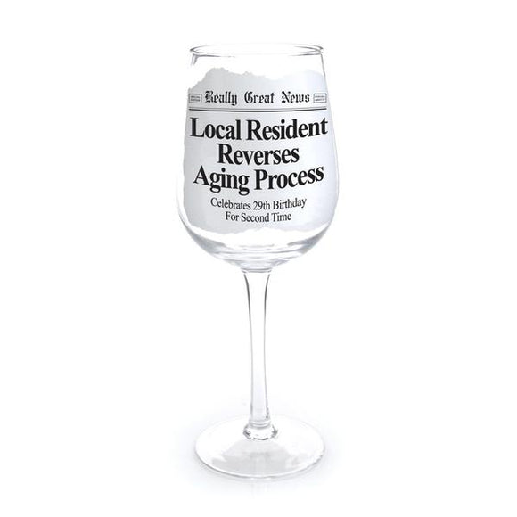 Really Great News - Aging Process Wine Goblet