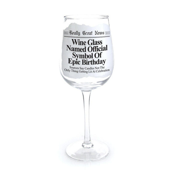 Really Great News - Epic Birthday Wine Goblet