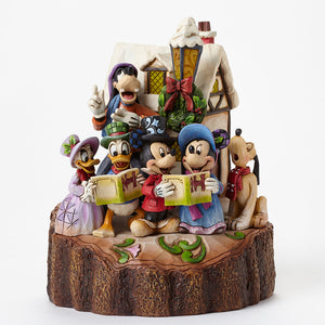 "Disney Traditions - 18.4cm/7.25"" Lit Holiday Harmony, Carved by Heart"