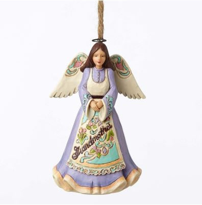 Jim Shore Heartwood Creek Christmas Grandmother Angel Ornament
