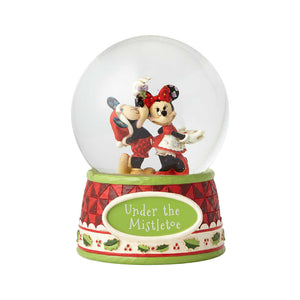 "Disney Traditions - 17cm/6.7"" Mickey & Minnie Under the Mistletoe 120mm Waterball"
