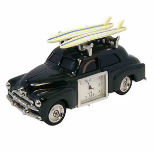 RETRO SURF CAR WITH BOARDS DESKTOP CLOCK