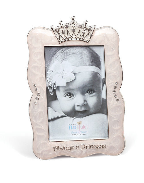 DEMDACO Elegant Charm - Always a Princess Crown Photo Frame