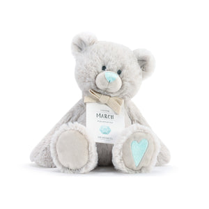 DEMDACO Baby Birthstone Bears - March Birthstone Bear