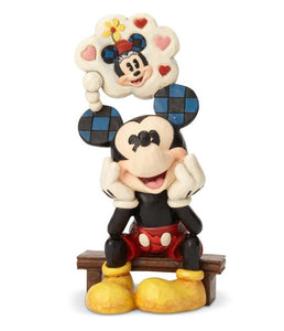 Disney Traditions - Mickey with Love Thought - Thinking of You H17.5cm