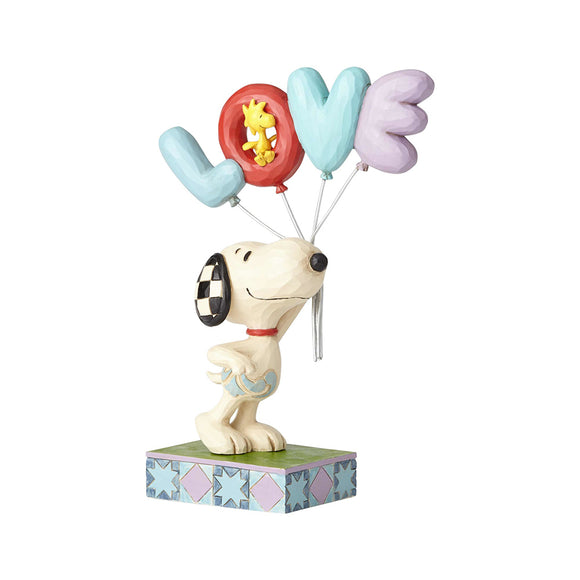 Peanuts by Jim Shore - Snoopy with LOVE Balloon