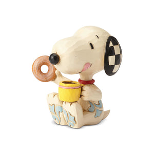 "Peanuts by Jim Shore - 7.6cm/3"" Snoopy with Donut & Coffee"