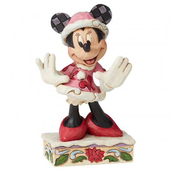 Disney Traditions - Festive Fashionista (Minnie Mouse Christmas Figurine)
