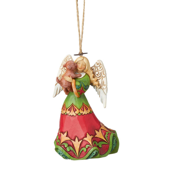 Heartwood Creek Hanging Ornaments - Angel Holding Puppy